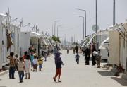 Syrische Flüchtlinge in einem Camp im Südwesten der Türkei. (Bild: AP )