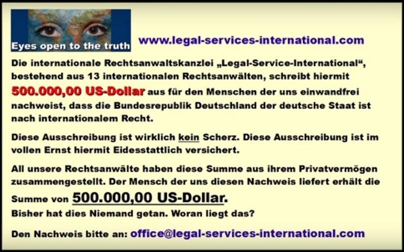 Möchten Sie mal eben 500.000 US-Dollar kassieren.